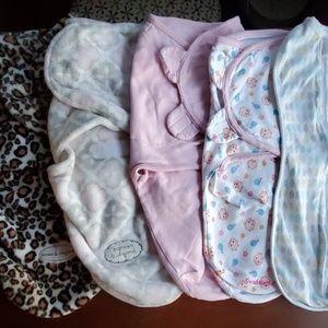 Baby Girl Swaddle Sleep Sacks